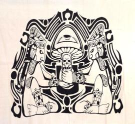 Bedsprei, wandkleed, grand foulard Aztec   - 220 x 240 cm