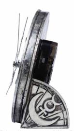 Alchemy The Vault - Wiccan Desk Clock - occulte klok met drievoudige maan en pentagram - 12 cm doorsnee