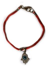 Red string Kabbalah armband met hamsa