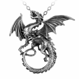 Alchemy Gothic nekketting - The Whitby Wyrm - Vampier Drakenketting - 6 x 6  cm