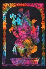 Wandkleed Ganesha gekleurd - 80 x 110 cm
