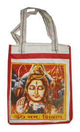 Bollywood Bag Indiase katoenen shopper - Shiva - 35 x 30 x cms