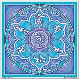 Raamsticker Lotus Juwel 18 x 18 cm
