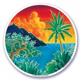 Raamsticker Hawaiian Sunrise