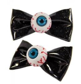 Kreepsville 666 haarspeldjes botten haar clipjes zwarte spelden met ogen