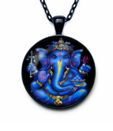 Glazen hanger met ketting Ganesha dessin 6
