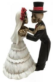 Endless love - huwelijkspaar met skeletten - 13 cm hoog