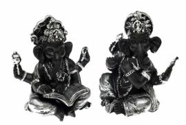 Ganesha beeld set van 2 - polyresin - 5 cm hoog