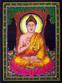Muurkleed Buddha - c.a. 80 x 110 cm