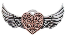 Engineerium Anne Stokes Valkyrie Heart broche