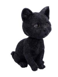 Bobcat Kitten Zwarte Kat beeld - 16.50 cm hoog