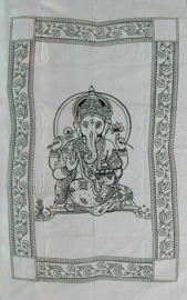 Bedsprei Ganesha wit 150 x 210 cm (1 pers)