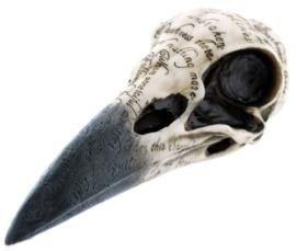 Doodskop 'Raven's Skull' Edgar Allan Poe - 21 cm lang