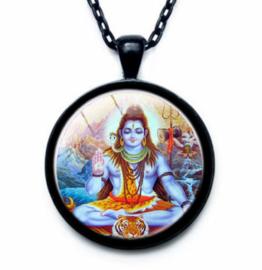 Glazen hanger met ketting Shiva 4