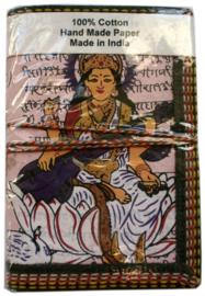 Indiase journaal 8 x 13 cm Saraswati roze