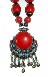 Tibetaanse ketting rode cirkel dessin 2