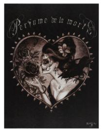 Alchemy England canvas wandbord - Perfume de la Mort - 19 x 25 cm