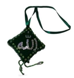 Groene stoffen hanger 'Allah'