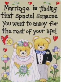 Grappige wenskaart huwelijk - Special Someone - 13 x 18 cm