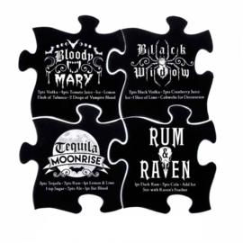 Alchemy of England keramieke legpuzzel onderzetters Gothic Cocktail - set van 4 - 20.2 cm
