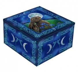 Mirror box  - Moon Gazing Hare - design Lisa Parker