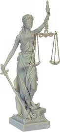Vrouwe Justitia - wit - 33 cm hoog