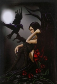Fairy and Raven - koelkast magneet van Lisa Parker