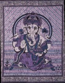Bedsprei / wandkleed Ganesha violet 200 x 220 cm