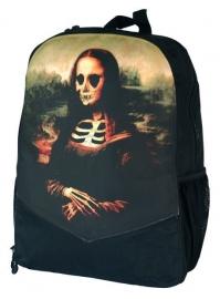 Darkside rugzak - Gothic Mona Lisa doodskop skelet