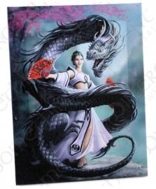 Dragon Dancer - wandbord van Anne Stokes - 25 x 19 cm