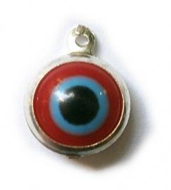 Boze oog bedel rood en blauw