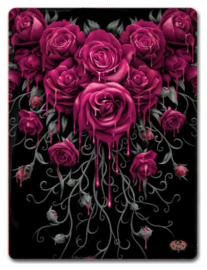 Spiral Direct - Blood Rose - fleece deken met dessin van bloedende rozen - 150 x 200 cm