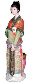 Chinese pop verlegen dame 30 cm hoog