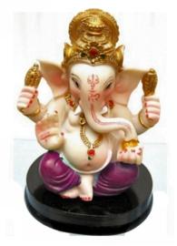 Beeld Ganesha met roze broek - 9 cm hoog