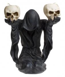 Bow to Darkness - kandelaar met Magere Hein en 2 doodskoppen