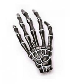 Harajuku skeletale hand haarschuifje zwart