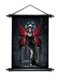Aracnafaria - Gothic muurscroll van Anne Stokes