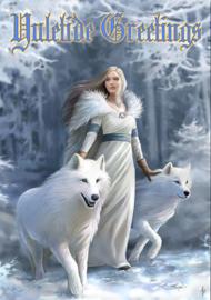 Yuletide Greetings - Wicca Pagan Kerstkaart van Anne Stokes 17.5 x 13,5 cm