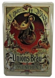 Tin sign Union's Brau 20 x 30 cm