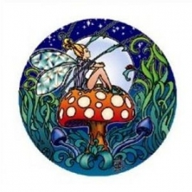 Raamsticker Fairy toadstool