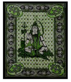 Bedsprei / wandkleed Shiva groen 210 x 240 cm