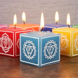 Set van 7 Chakra Symbol Kaarsen - 4.7 x 4.7 x 4.7 cm