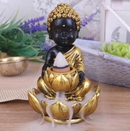 Baby boeddha backflow wierookbrander - 10.3 cm hoog