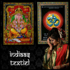 Hindu textiel woondecoratie
