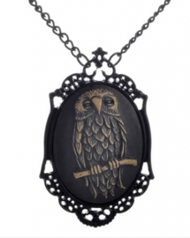 Gothic horror steampunk camee ketting uil