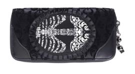 Banned Apparel - Ribcage Purse - portemonnee met skelet dessin - 19 x 10 cm