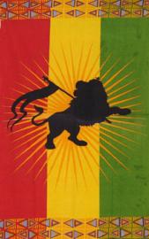 Bedsprei wandkleed leeuw Rastafari, Bob Marley 120 x 220 cm