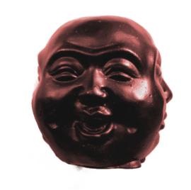 Happy Boeddha met 4 Gezichten 8 cm rood