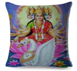Kussenhoes Hindu God - Gayatri - 45 x 45 cm
