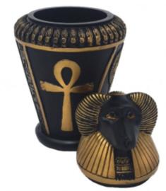 Egyptische Canopic Vaas Amon Ra 14 cm hoog
